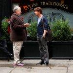 Harvey Fierstein as Harvey Fierstein, Christian Borle as Tom Levitt -- (Photo by: Will Hart/NBC)