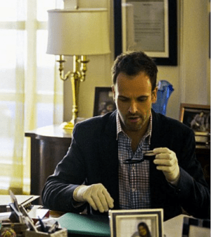 Jonny Lee Miller as Sherlock Holmes. Image: Tom Concordia © CBS