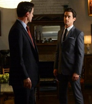Tim DeKay as Peter Burke, Matt Bomer as Neal Caffrey -- Photo by: David Giesbrecht/USA Network
