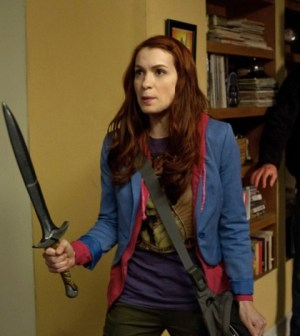 Felicia Day as Charlie. Image © The CW Network