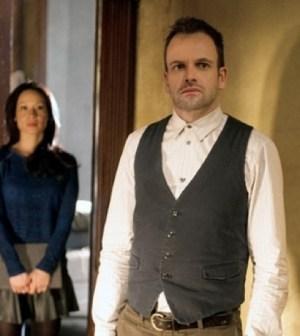Jonny Lee Miller (foreground) as Sherlock Holmes. Image © CBS