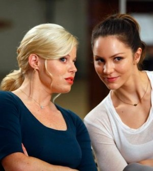 Megan Hilty as Ivy Lynn, Katharine McPhee as Karen Cartwright (Photo by: Will Hart/NBC)