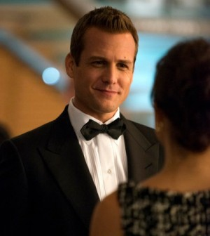 Gina Torres as Jessica Pearson, Gabriel Macht as Harvey Specter -- (Photo by: Shane Mahood/USA Network)