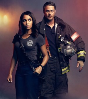 Monica Raymund and Taylor Kinney in Chicago Fire. Image © NBC