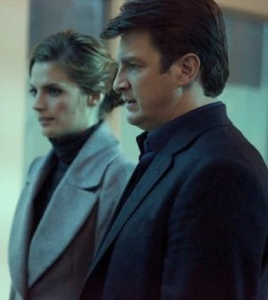 Stana Katic and Nathan Fillion in ABC's Castle.
