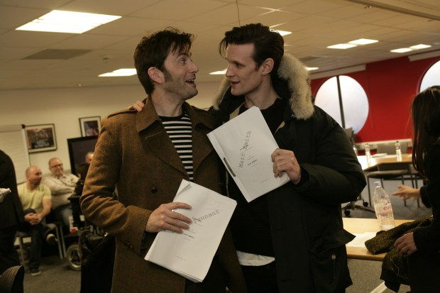 Matt Smith and David Tennant. Image Credit: BBC/Adrian Rogers