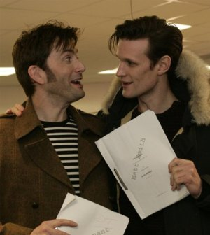 David Tennant and Matt Smith. Image Credit: BBC/Adrian Rogers