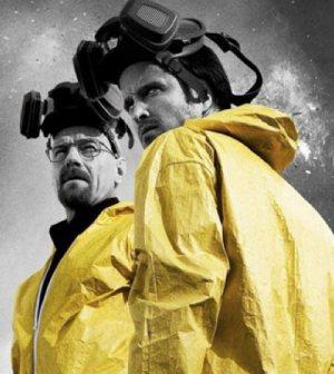 Bryan Cranston and Aaron Paul in AMC's Breaking Bad