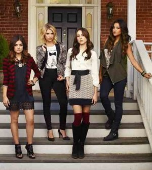 """Pretty Little Liars"" stars Lucy Hale as Aria Montgomery, Ashley Benson as Hanna Marin, Troian Bellisario as Spencer Hastings and Shay Mitchell as Emily Fields. (ABC FAMILY/ANDREW ECCLES)"