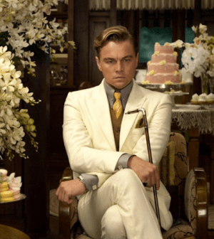 Leonardo DiCaprio in The Great Gatsby. Image: Courtesy of Warner Bros. Picture © 2013 Bazmark Film