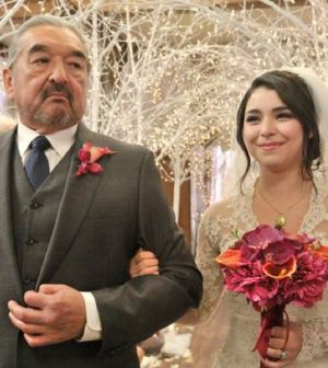 Pictured: (l-r) Graham Greene as Rafe McCawley, Nicole Munoz as Christie McCawley -- (Photo by: Ben Mark Holzberg/Syfy)