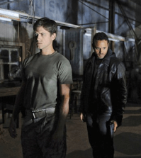 Aaron Tveit (left) and Daniel Sunjata in Graceland. Image  © USA