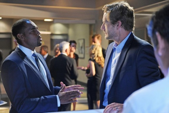 Pictured: Jason George as Dominic, Brett Tucker as Harry -- Photo by: ABC/Richard Foreman