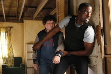 Pictured: (l-r) Joshua Erenberg as Anton Roth, Lance Gross as Marcus Finley