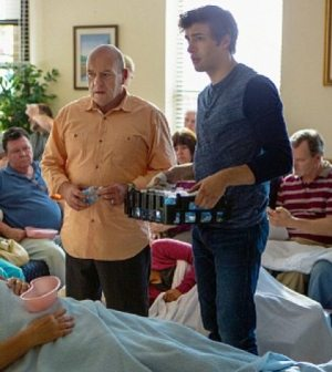 Pictured: L-R Dean Norris as Big Jim and Alex Koch as Junior Photo: Michael Tackett/©2013 CBS Broadcasting Inc.