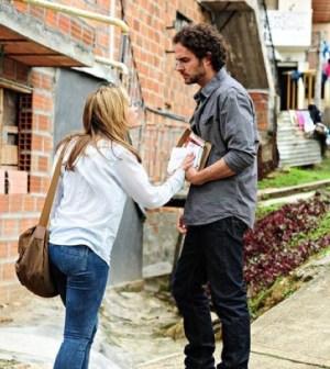 Pictured: (l-r) Piper Perabo as Annie Walker, Manolo Cardona as Teo Braga -- (Photo by: Cesar Carillo/USA Network)