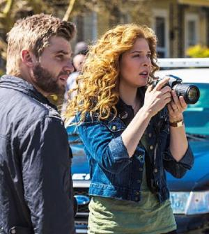 Pictured: L-R Mike Vogel as Dale œ'Barbie' Barbara and Rachelle Lefevre as Julia Shumway. Photo: Michael Tackett/©2013 CBS
