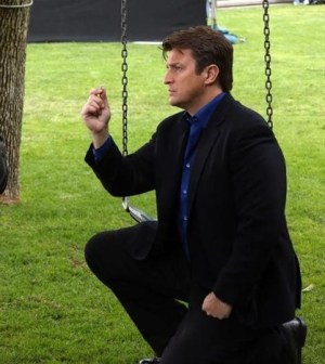 Nathan Fillion in Castle. Image © ABC
