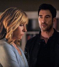 Toni Collette and Dylan McDermott in Hostages. Image © CBS