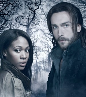 L-R: Nicole Beharie and Tom Mison in Sleepy Hollow. Co. Cr: Michael Lavine/FOX