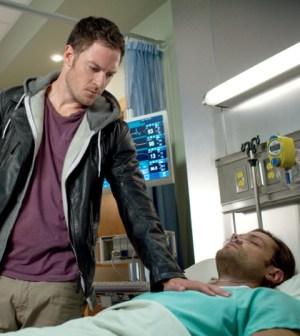Pictured (L-R): Tahmoh Penikett as Ezekiel and Jared Padalecki as Sam -- Credit: Liane Hentscher/The CW