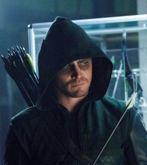 Pictured: Stephen Amell as The Arrow -- Photo: Michael Courtney /The CW