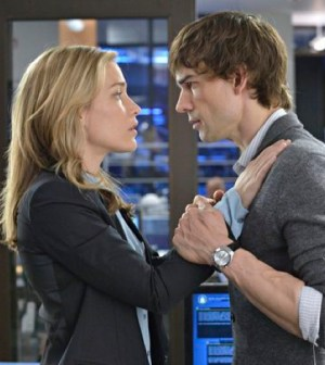 Piper Perabo as Annie Walker, Christopher Gorham as Auggie Anderson -- (Photo by: Ben Mark Holzberg/USA Network)