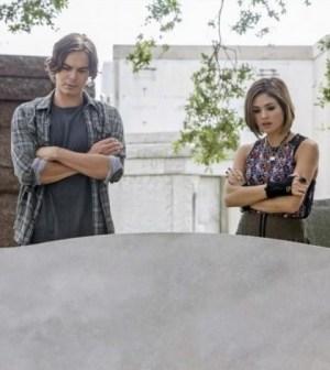 Pictured: Tyler Blackburn as Caleb, Nicole Gale Anderson as Miranda -- Photo by: ABC FAMILY/Skip Bolen