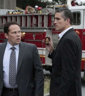 Kevin Chapman (l) and Jim Caviezel (r) in Person of Interest. Image © CBS