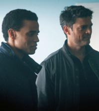 Dorian (Michael Ealy, L) and Det. John Kennex (Karl Urban, R). Co. Cr: Liane Hentscher/FOX