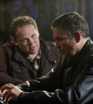 Kevin Chapman (L) and Jim Caveizel (R) in Person of Interest. Photo: John Paul Filo/CBS