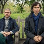 Martin Freeman (l) and Benedict Cumberbatch (r) in Sherlock. Image © BBC