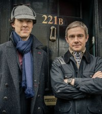 Benedict Cumberbatch (l) and Martin Freeman (r) in the BBC's Sherlock. Image © BBC