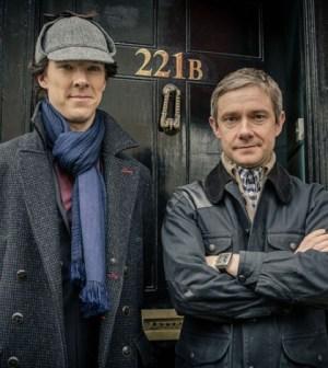 Benedict Cumberbatch (l) and Martin Freeman (r) in the BBC's Sherlock. Image © BBC