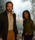 Ichabod Crane (Tom Mison, L) and Lt. Abbie Mills (Nicole Beharie, R). Co. CR: Brownie Harris/FOX