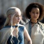 Emilia Clarke as Daenerys Targaryen, Nathalie Emmanuel as Missandei_photo Macall B.Polay_HBO