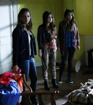 Pictured (L-R): Ashley Benson, Lucy Hale, and Shay Mitchell -- Photo by: ABC Family/Ron Tom