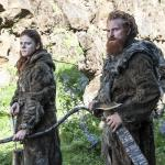 Rose Leslie as Ygritte, Kristofer Hivju as Tormund_photo Helen Sloan_HBO