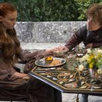 Sophie Turner as Sansa Stark, Peter Dinklage as Tyrion Lannister_photo Macall B.Polay_HBO