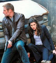 Pictured L-R: Josh Holloway and Meghan Ory Photo: Chris Helcermanas-Benge/CBS