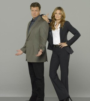 """ABC's """"Castle"""" stars Nathan Fillion as Richard Castle and Stana Katic as NYPD Detective Kate Beckett. (ABC/Bob D'Amico)"""