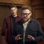 Pictured (L-R): Jensen Ackles as Dean and AJ Buckley as Ed -- Credit: Diyah Pera/The CW