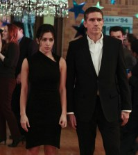 "Sarah Shahi and Jim Caviezel as Shaw and Reese in ""Person of Interest"" Image © CBS"