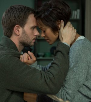 Pictured: (l-r) Patrick J. Adams as Guy, Zoe Saldana as Rosemary -- (Photo by: Roger Do Minh/NBC)