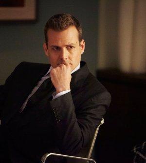 Gabriel Macht as Harvey Specter. (Photo by: Ian Watson/USA Network)