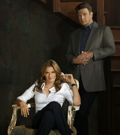 Stana Katic and Nathan Fillion in ABC's CASTLE. Picture by: ABC Network