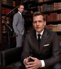 Pictured (l-r) Patrick J. Adams as Michael Ross, Gabriel Macht as Harvey Specter -- (Photo by: Nigel Parry/USA Network)