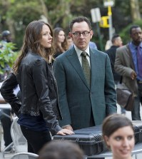 (Michael Emerson, right) and Root (Amy Acker, left). Photo: John Paul Filo/CBS