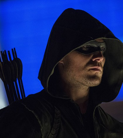 Stephen Amell as Arrow. Image Cate Cameron/The CW