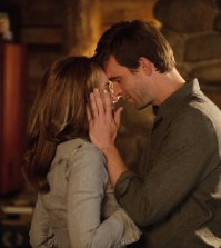 Pictured: (l-r) -- Emily Rose as Audrey Parker. Lucas Bryant as Nathan Wuornos. (Photo by: Mike Tompkins/Syfy)